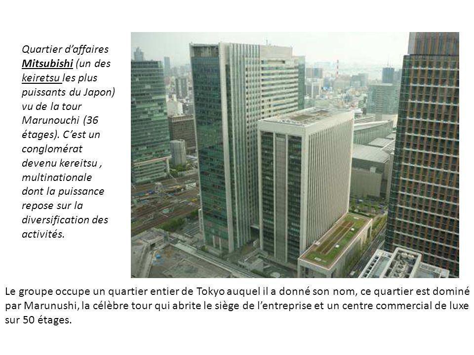 Le groupe occupe un quartier entier de Tokyo auquel il a donné son nom, ce quartier est dominé par Marunushi, la célèbre tour qui abrite le siège de l
