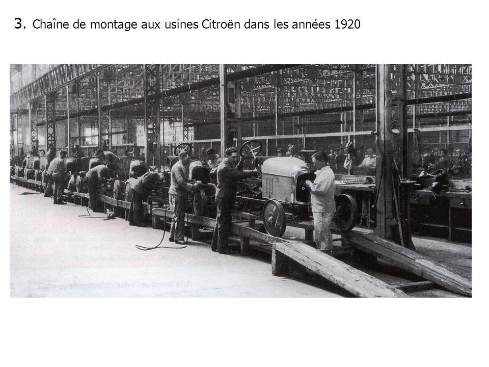 3. Chaîne de montage aux usines Citroën dans les années 1920