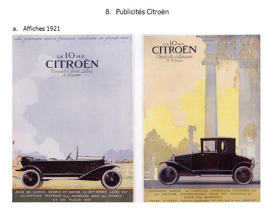 8.Publicités Citroën a.Affiches 1921
