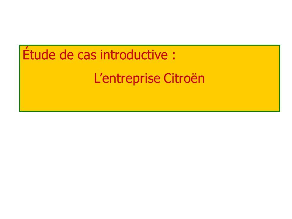 Étude de cas introductive : Lentreprise Citroën