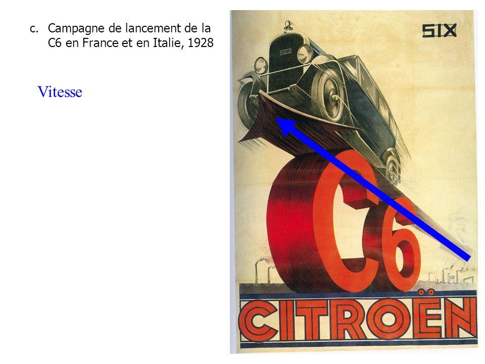 c.Campagne de lancement de la C6 en France et en Italie, 1928 Vitesse