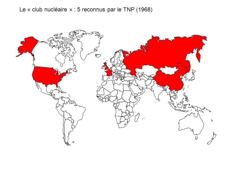 Le « club nucléaire » : 5 reconnus par le TNP (1968)