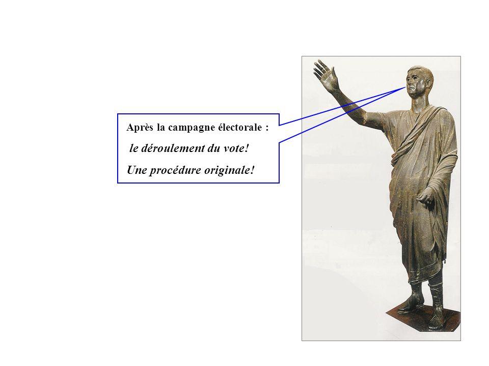 Après la campagne électorale : le déroulement du vote! Une procédure originale!