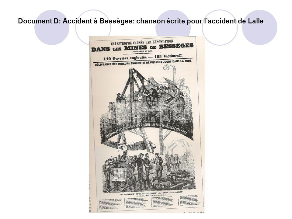 Document D: Accident à Bessèges: chanson écrite pour laccident de Lalle