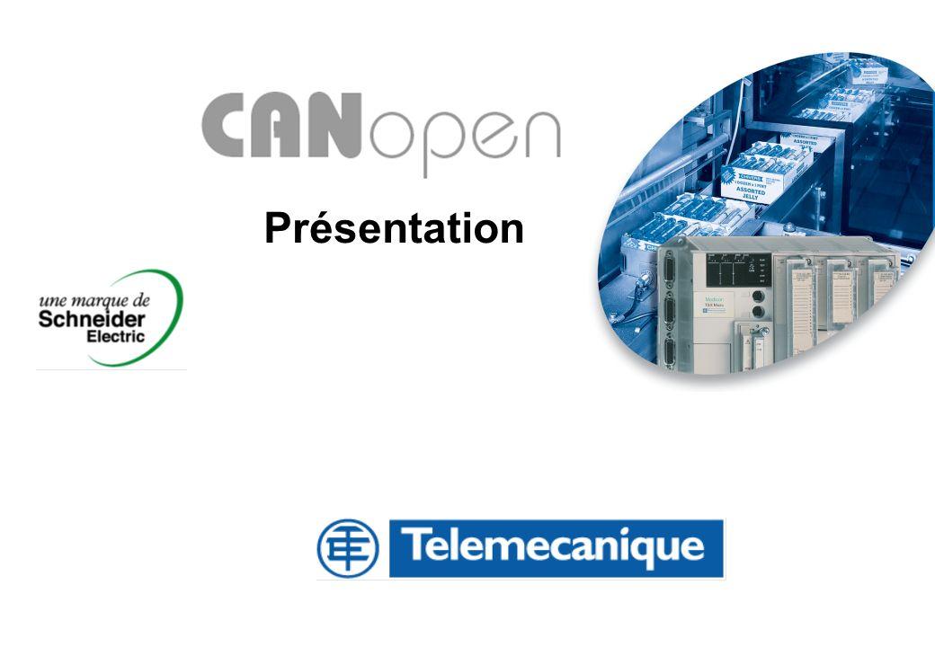 Division - Name - Date - Language 12 Les bases de CANopen Termes spécifiques à CANopen COB-ID : COB-ID = Communication Object Identifier Chaque trame CANopen commence sur un champ nommé COB- ID.