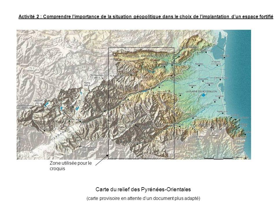 Zone utilisée pour le croquis Activité 2 : Comprendre limportance de la situation géopolitique dans le choix de limplantation dun espace fortifié Cart