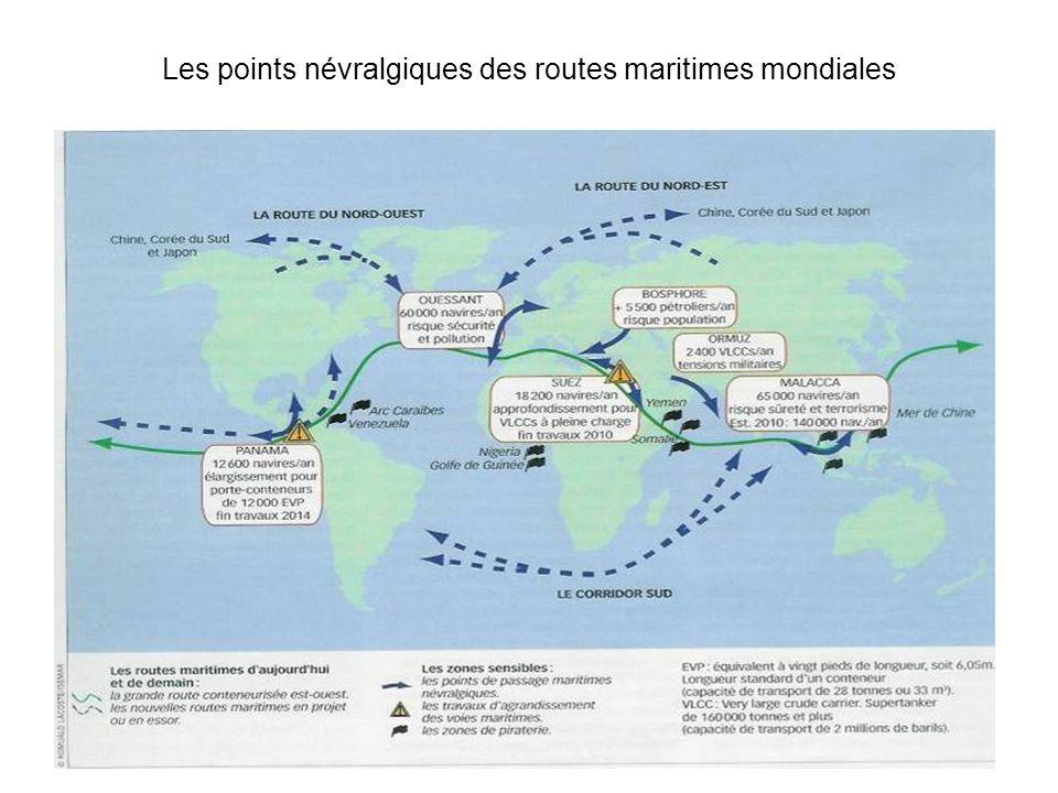 Les points névralgiques des routes maritimes mondiales