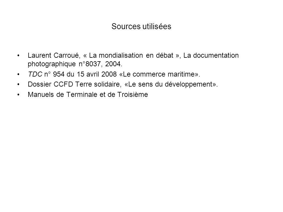 CONNAISSANCES Les transports maritimes Les échanges mondiaux et régionaux de marchandises se déroulent, majoritairement par voie maritime, entre les espaces de production et déchange précédemment étudiés.