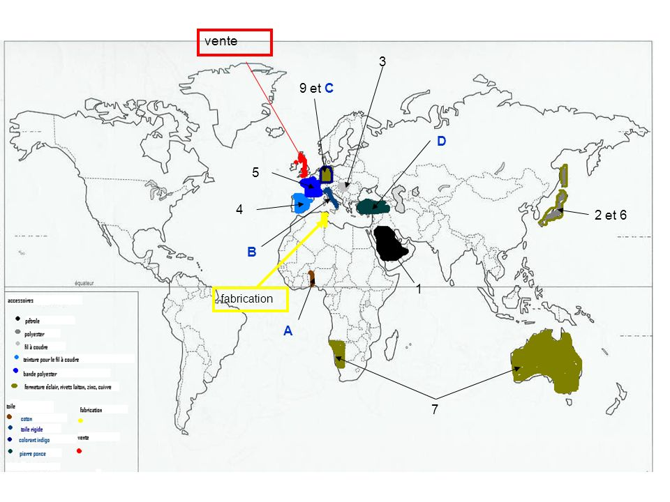 Mise en perspective : A léchelle mondiale des pôles et des flux Supports documentaires : -Planisphère des pôles et des flux du commerce mondial -Texte « La révolution des conteneurs » daprès A.