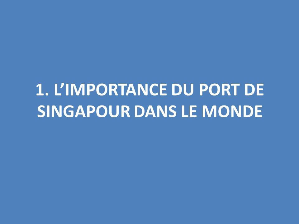 1. LIMPORTANCE DU PORT DE SINGAPOUR DANS LE MONDE