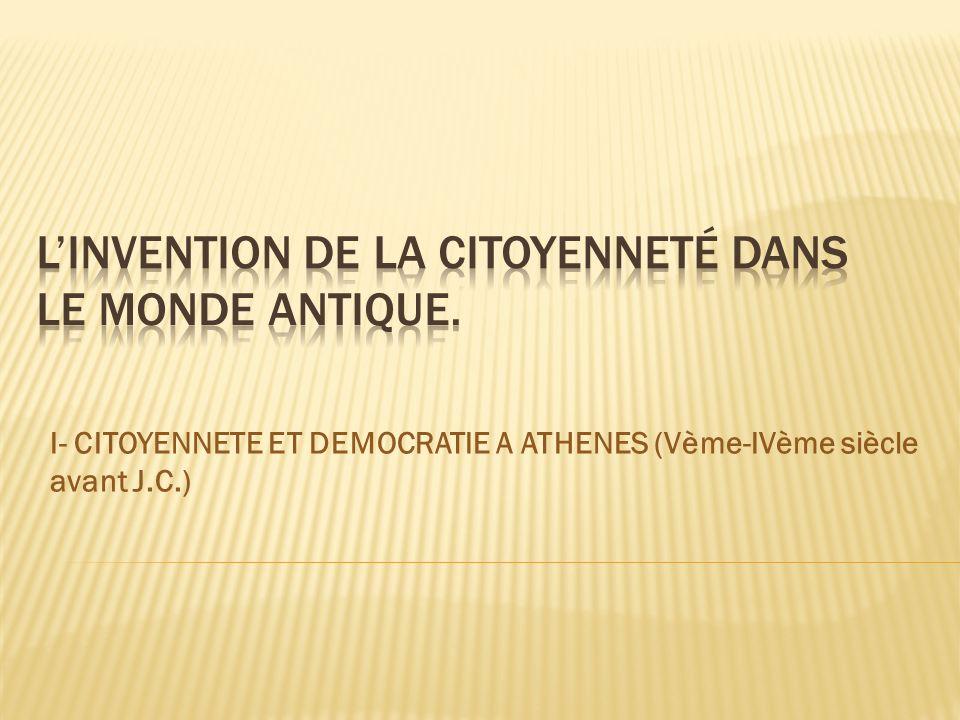 Fierté dappartenir à la cité dAthènes.Périclès décrit la démocratie.
