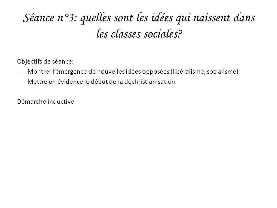 Séance n°3: quelles sont les idées qui naissent dans les classes sociales.