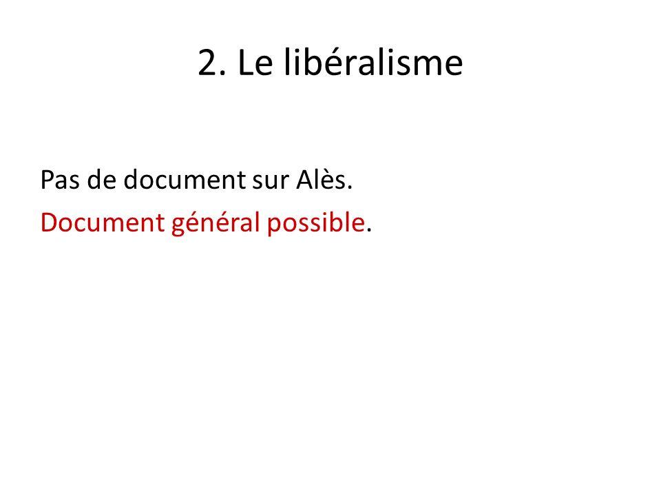2. Le libéralisme Pas de document sur Alès. Document général possible.