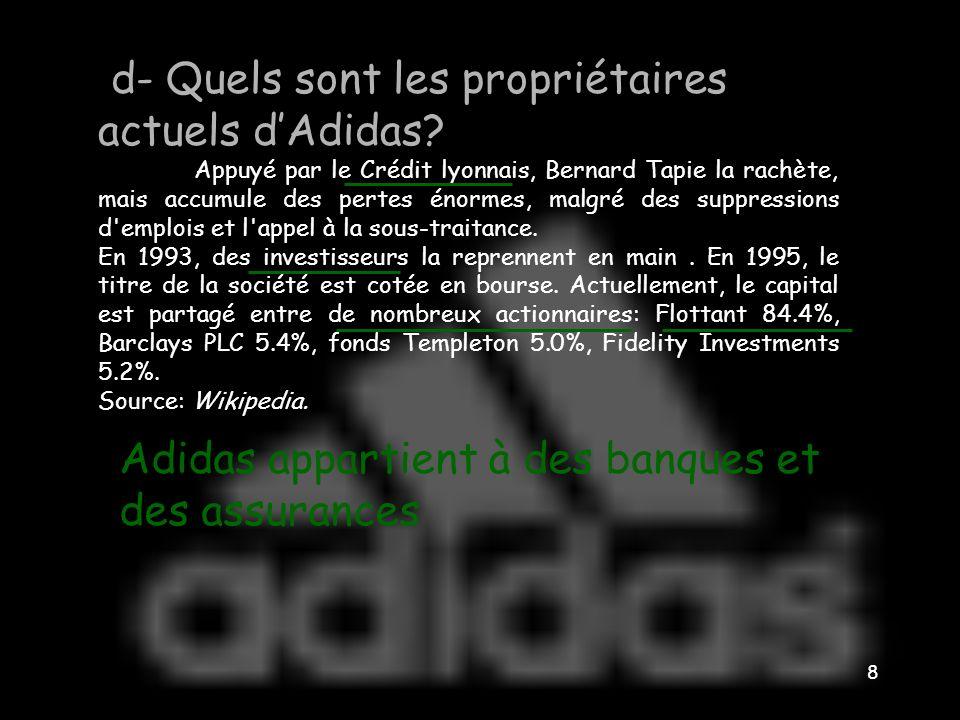 Comment Adidas, petite entreprise familiale européenne, est-elle devenue une firme transnationale? 7