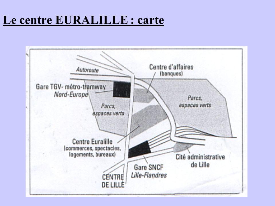 Le centre EURALILLE : carte
