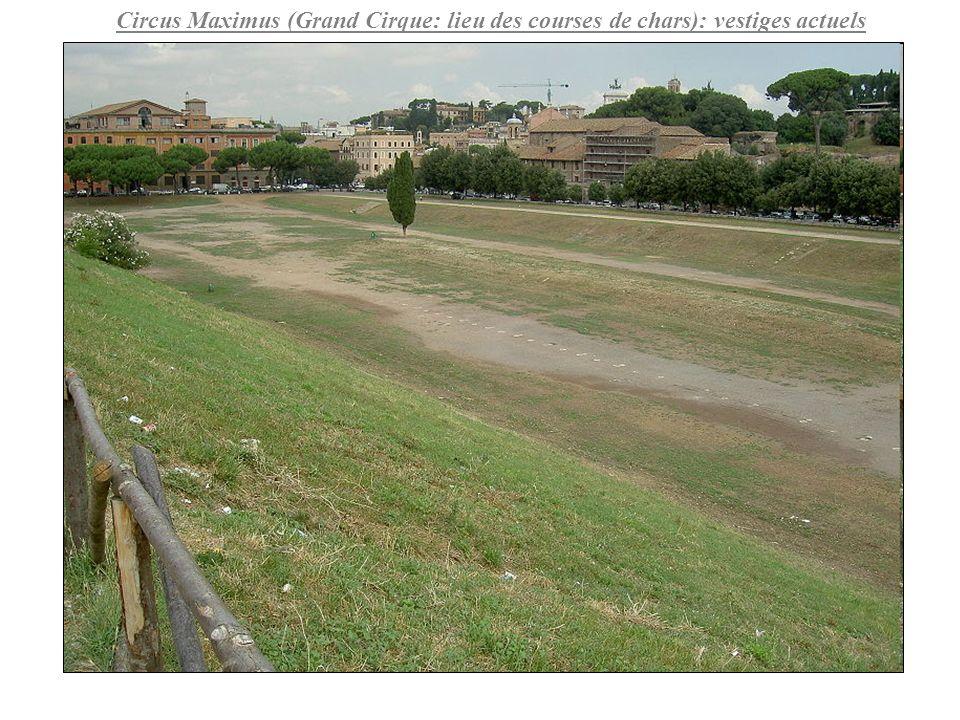 Circus Maximus (Grand Cirque: lieu des courses de chars): vestiges actuels