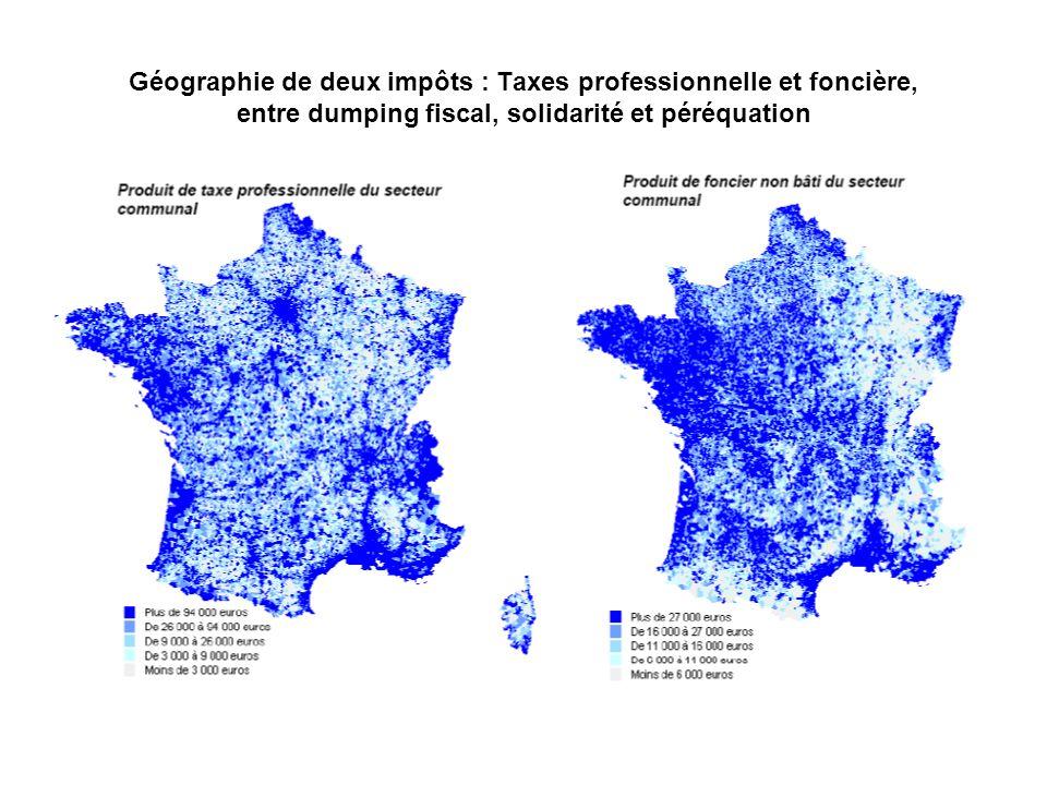 Géographie de deux impôts : Taxes professionnelle et foncière, entre dumping fiscal, solidarité et péréquation