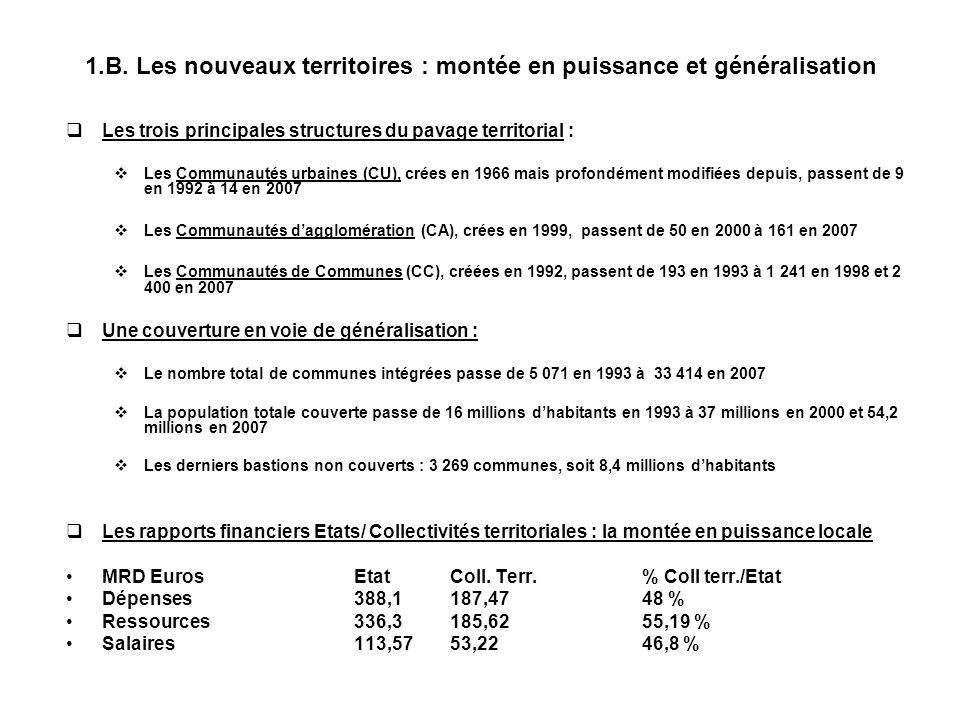 1.C. Statistiques générales : la rupture qualitative des années 1990 (1972/2007)