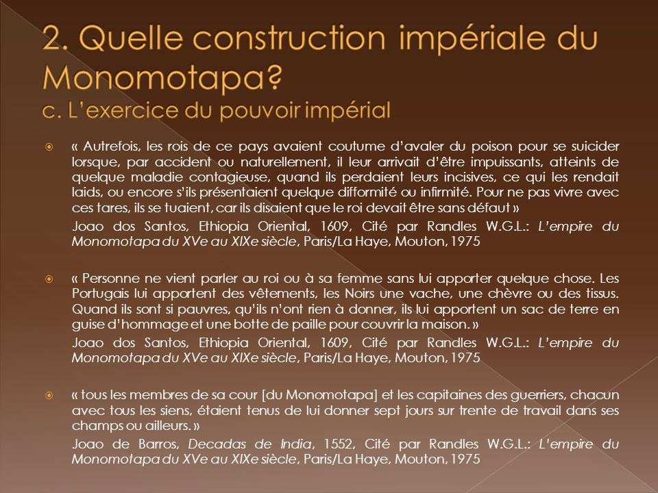 Lempire du Monomotapa et les Etats voisins (15 e - 19 e siècles).
