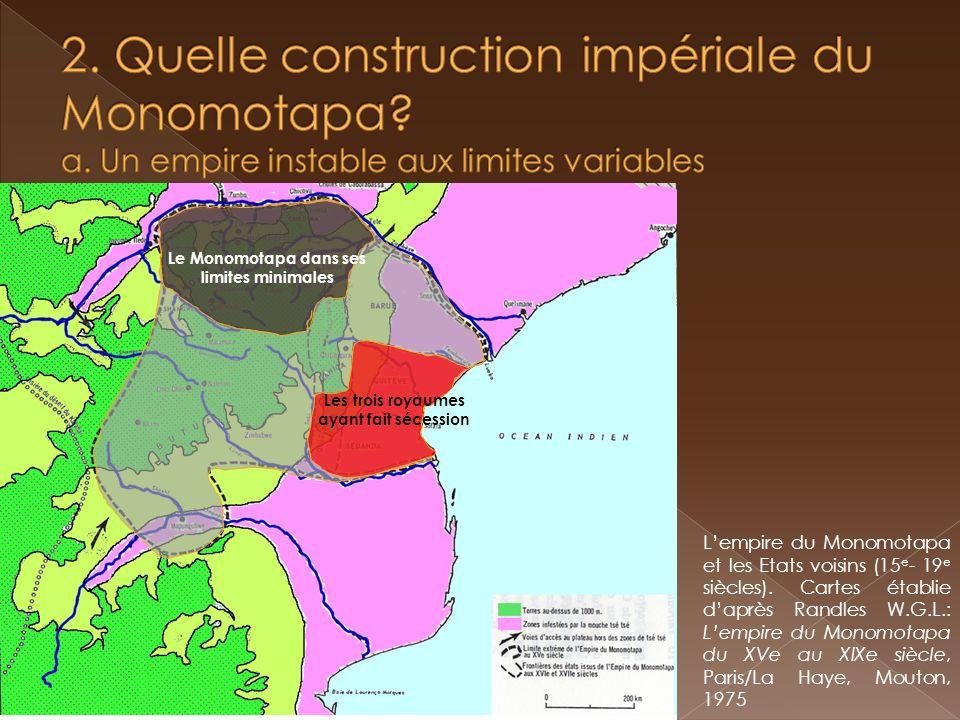 « Toutes les mines qui se trouvent chez les Noirs (…) sont contrôlées par des Noirs vassaux du Monomotapa, comparables à ce que sont au Portugal le duc de Bragance, le duc dAveiro, le marquis de Vila Real, et autres seigneurs; mais leurs droits ne sont pas aussi stables, car suivant son bon plaisir, le Monomotapa prend aux uns et donne aux autres ».