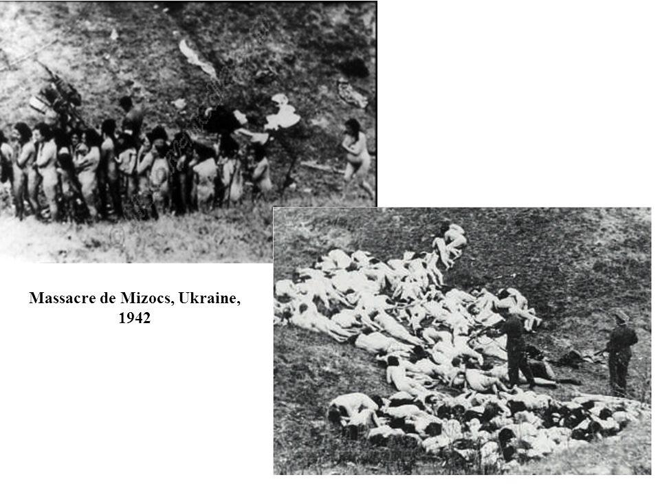 Massacre de Mizocs, Ukraine, 1942