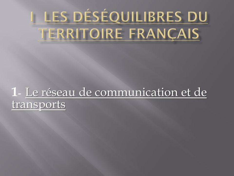 Le réseau de communication et de transports 1 - Le réseau de communication et de transports