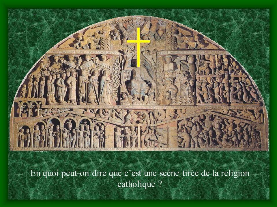 Le tympan du portail de léglise de Conques, Aveyron, XII e siècle