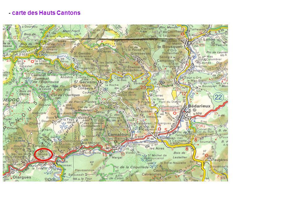 - carte des Hauts Cantons