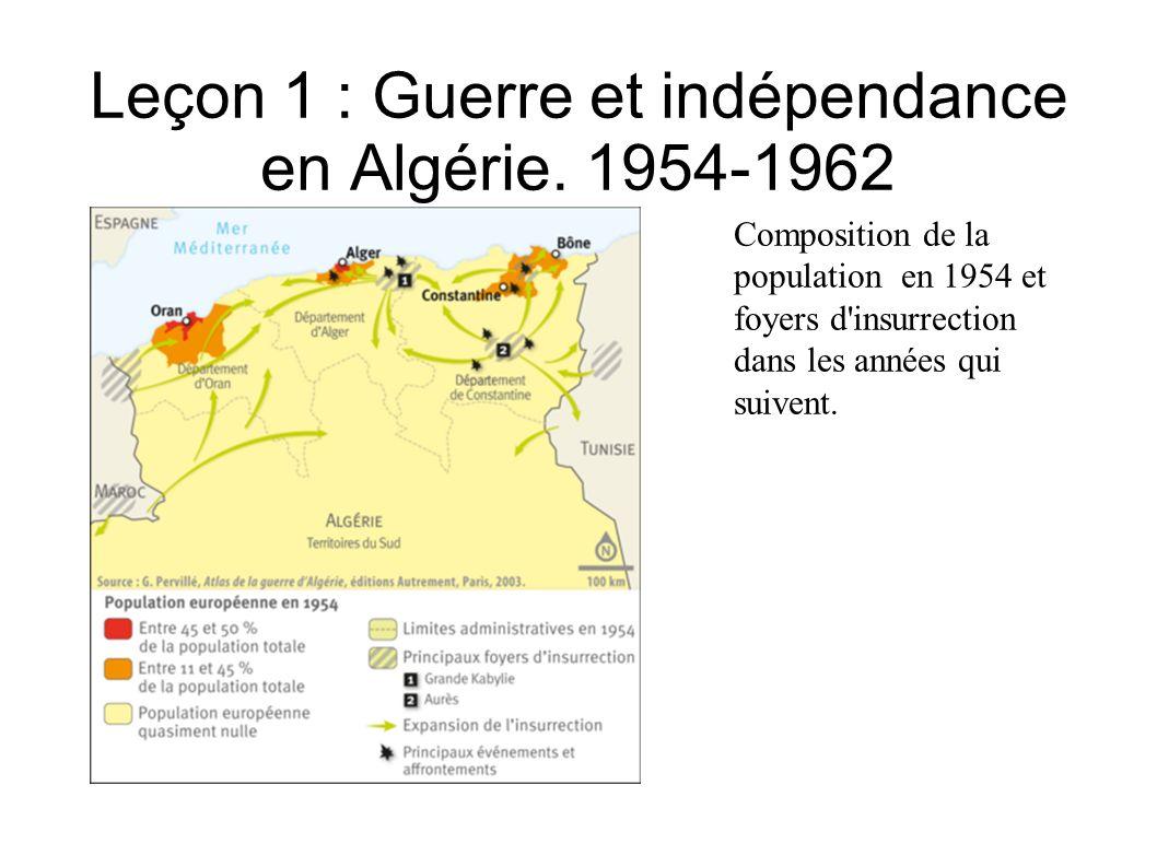 Leçon 1 : Guerre et indépendance en Algérie.