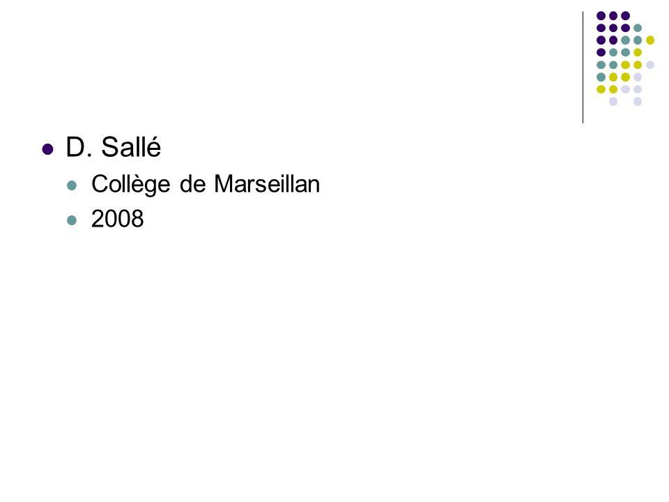D. Sallé Collège de Marseillan 2008