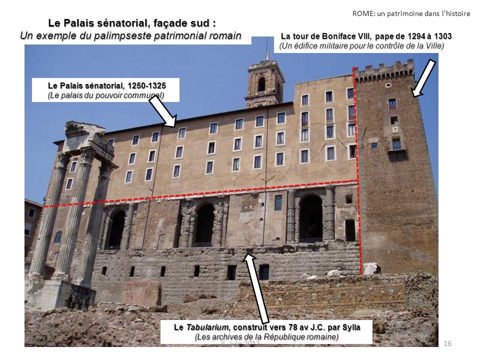 ROME: un patrimoine dans l'histoire La tour de Boniface VIII, pape de 1294 à 1303 La tour de Boniface VIII, pape de 1294 à 1303 (Un édifice militaire