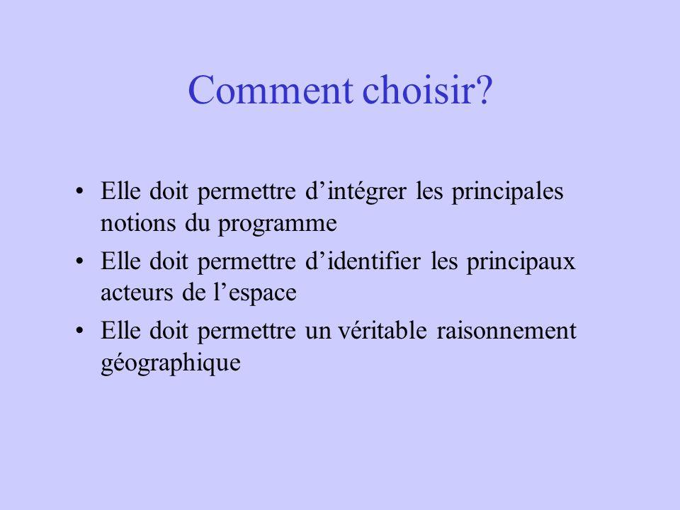 Comment choisir.