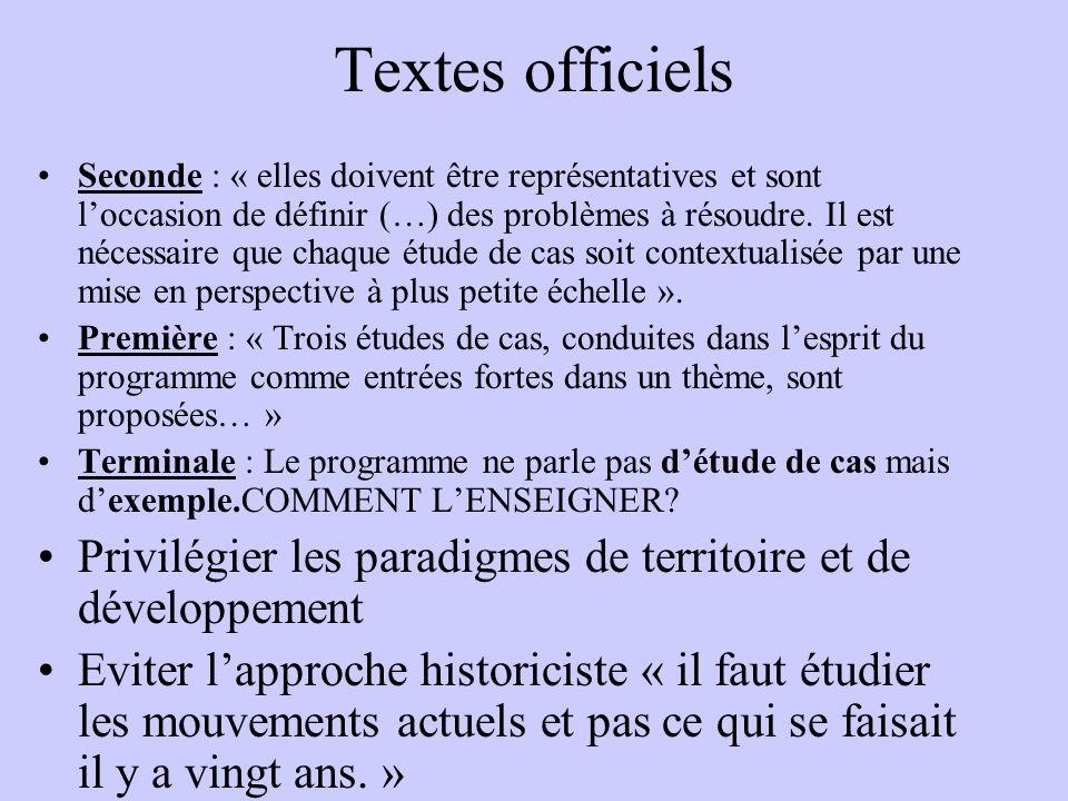 Textes officiels Seconde : « elles doivent être représentatives et sont loccasion de définir (…) des problèmes à résoudre.