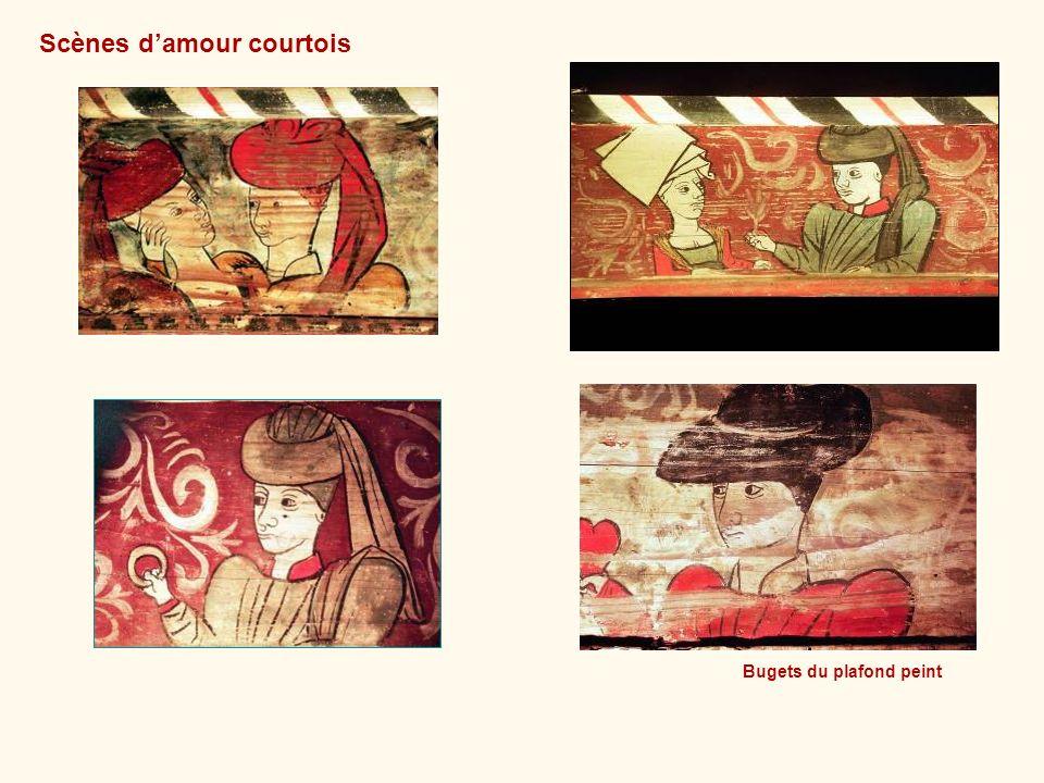 Bugets du plafond peint Scènes damour courtois