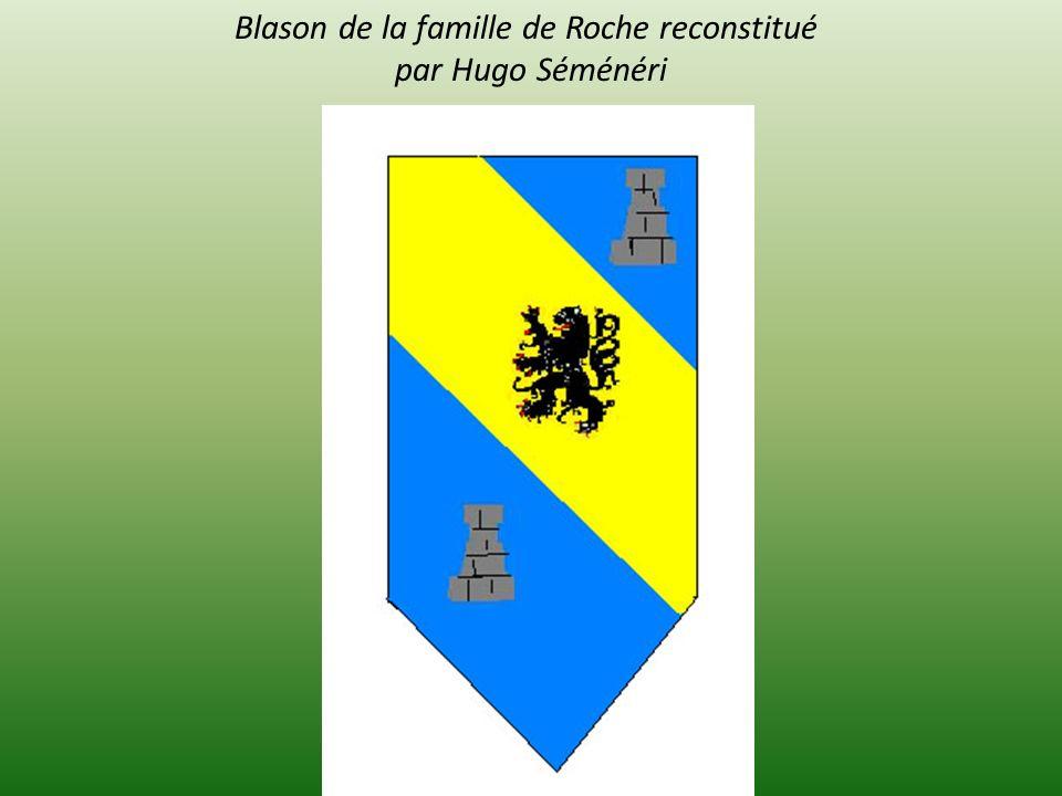 Blason de la famille de Roche reconstitué par Hugo Séménéri