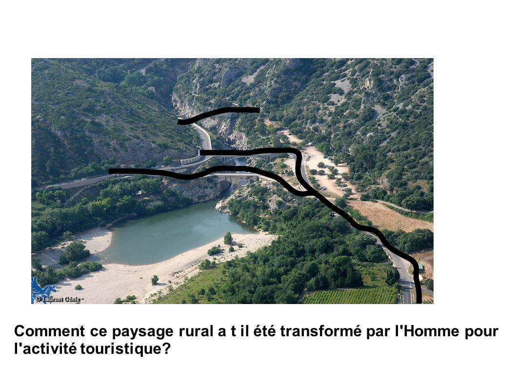 Comment ce paysage rural a t il été transformé par l'Homme pour l'activité touristique?