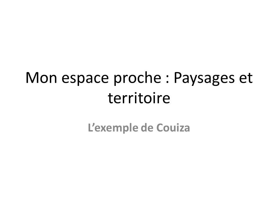 Mon espace proche : Paysages et territoire Lexemple de Couiza