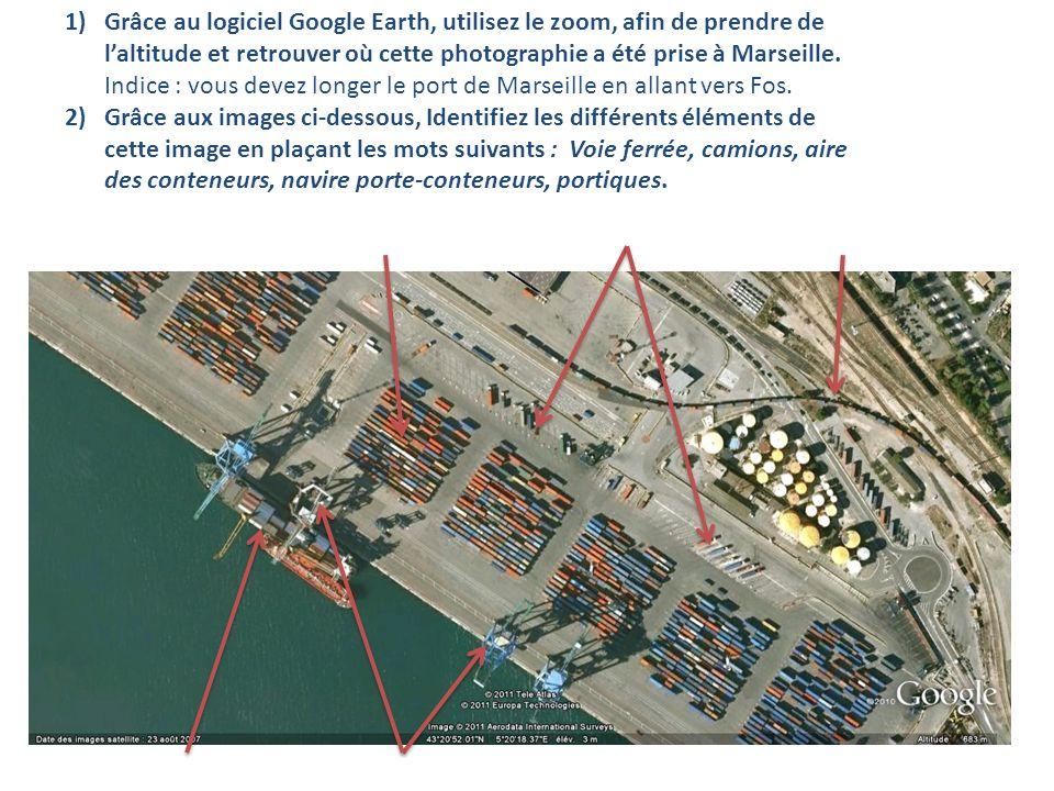 1)Grâce au logiciel Google Earth, utilisez le zoom, afin de prendre de laltitude et retrouver où cette photographie a été prise à Marseille. Indice :