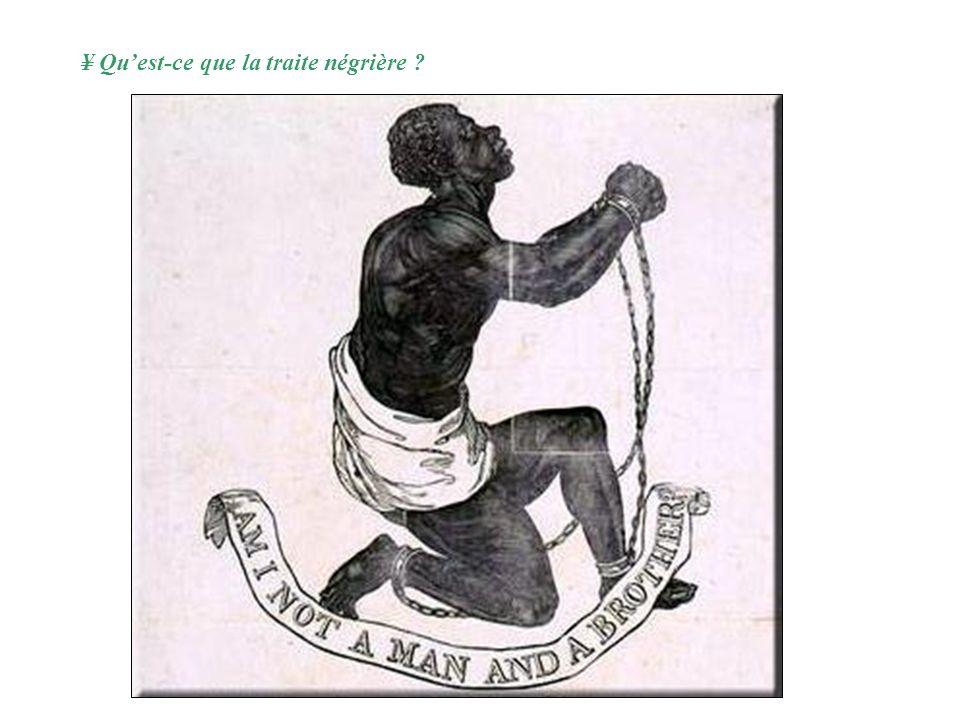 Les traites négrières (VIIe-XIXe siècles) :