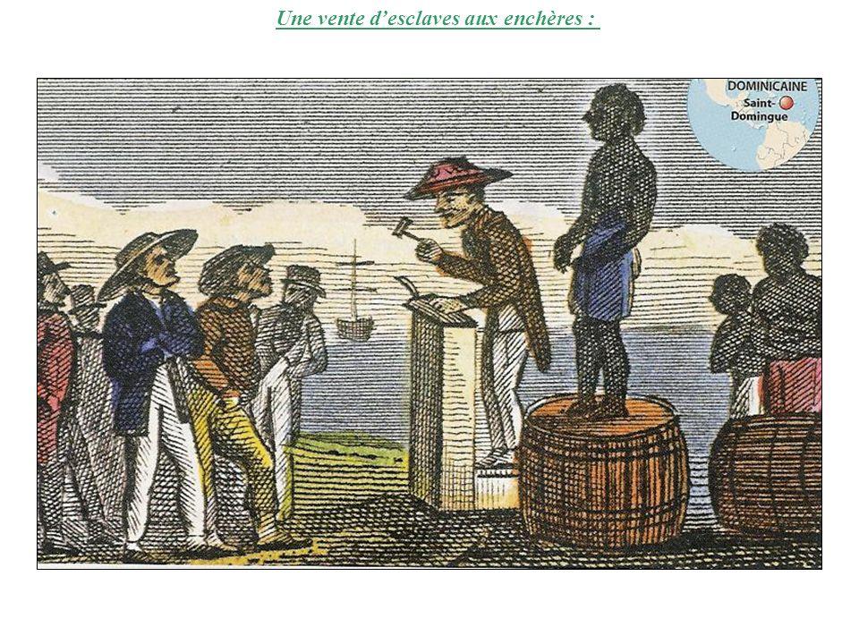 Une vente desclaves aux enchères :
