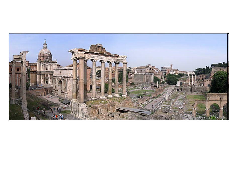 Autrefois, le forum était une cuvette marécageuse servant de nécropole.