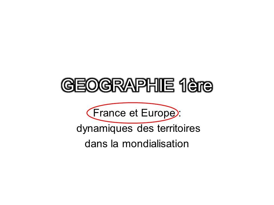 Une entrée générale problématisée : LUE, acteur et pôle majeur de la mondialisation Ø En quoi lUnion Européenne est-elle un des centres dimpulsion de la mondialisation .