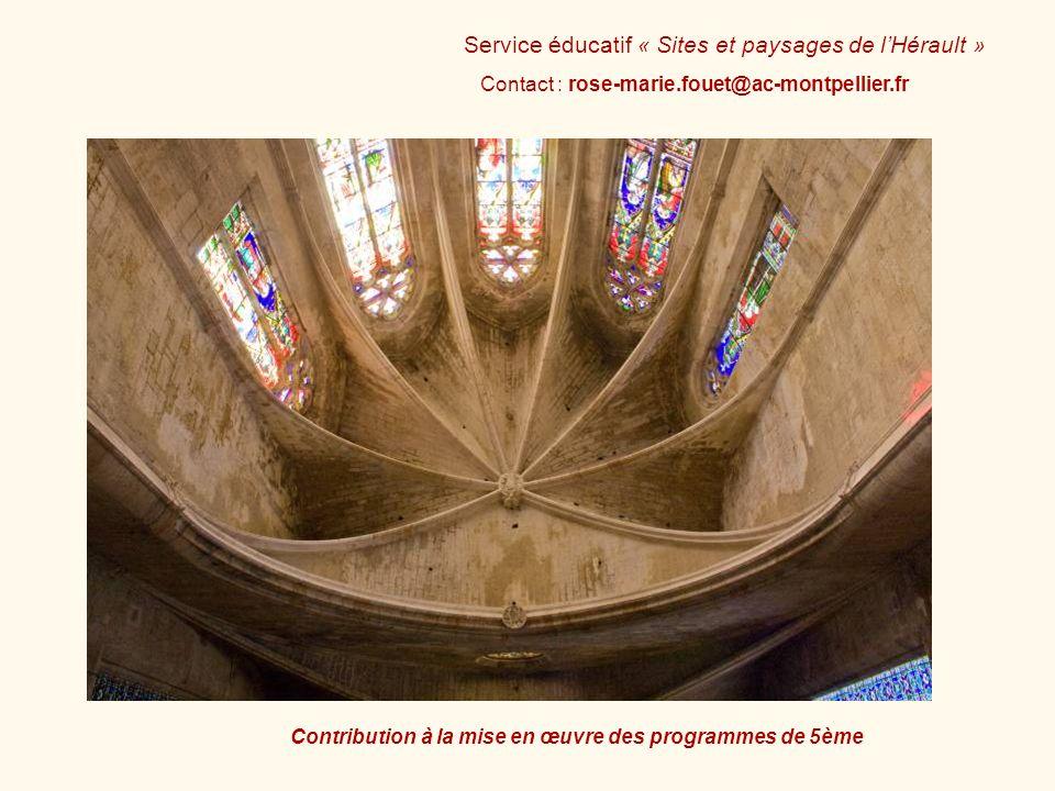 Contact : rose-marie.fouet@ac-montpellier.fr Service éducatif « Sites et paysages de lHérault » Contribution à la mise en œuvre des programmes de 5ème