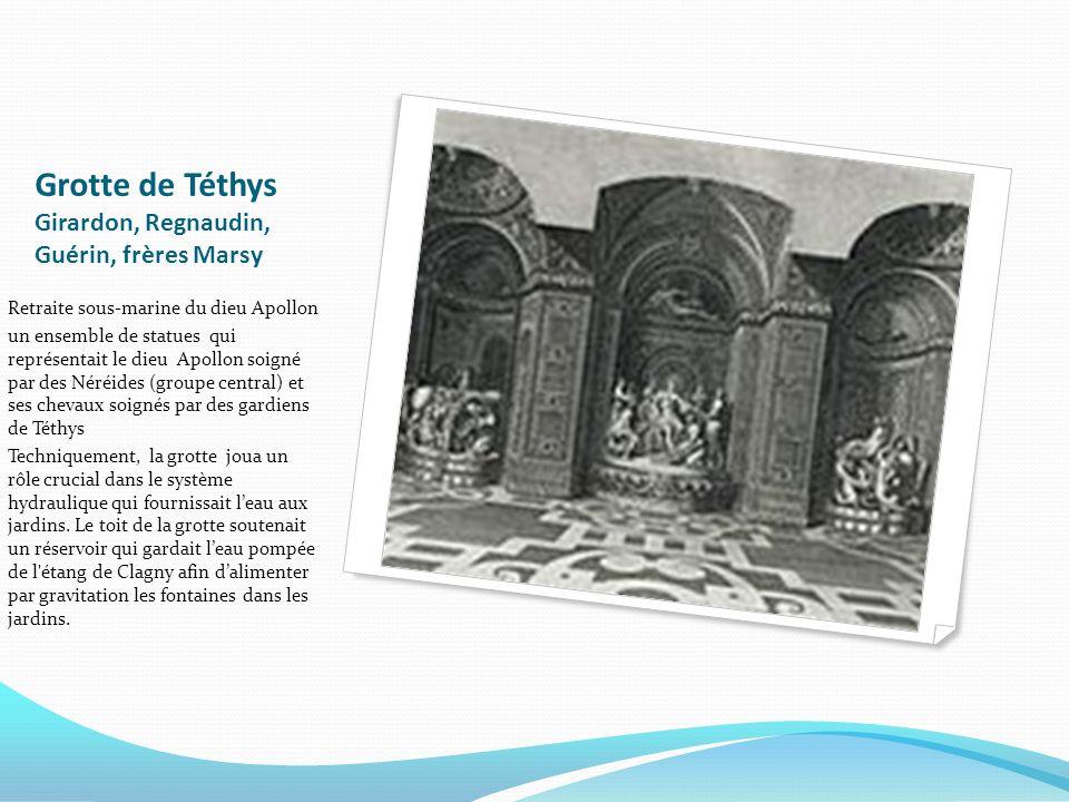 Grotte de Téthys Girardon, Regnaudin, Guérin, frères Marsy Retraite sous-marine du dieu Apollon un ensemble de statues qui représentait le dieu Apollo