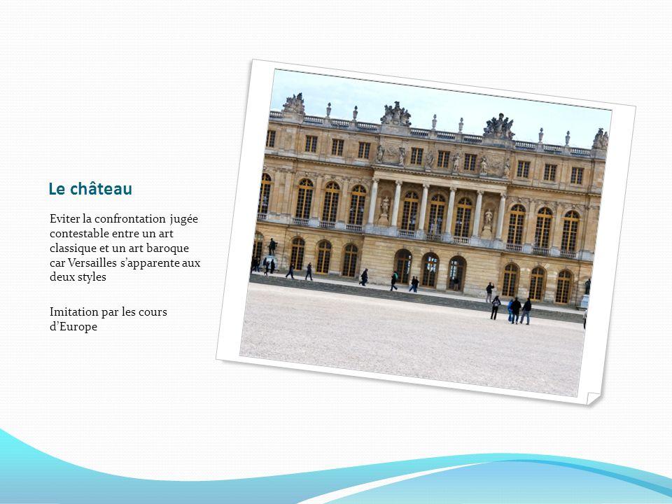 Le château Eviter la confrontation jugée contestable entre un art classique et un art baroque car Versailles sapparente aux deux styles Imitation par