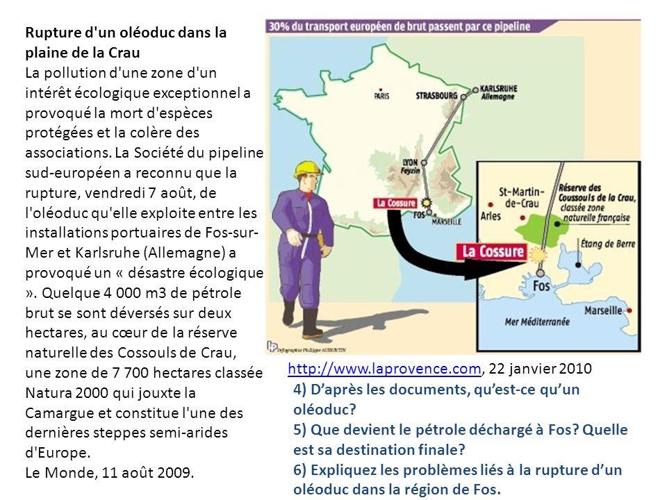 Rupture d'un oléoduc dans la plaine de la Crau La pollution d'une zone d'un intérêt écologique exceptionnel a provoqué la mort d'espèces protégées et
