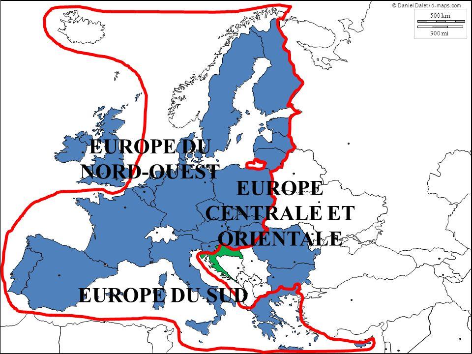 EUROPE DU NORD-OUEST EUROPE DU SUD EUROPE CENTRALE ET ORIENTALE