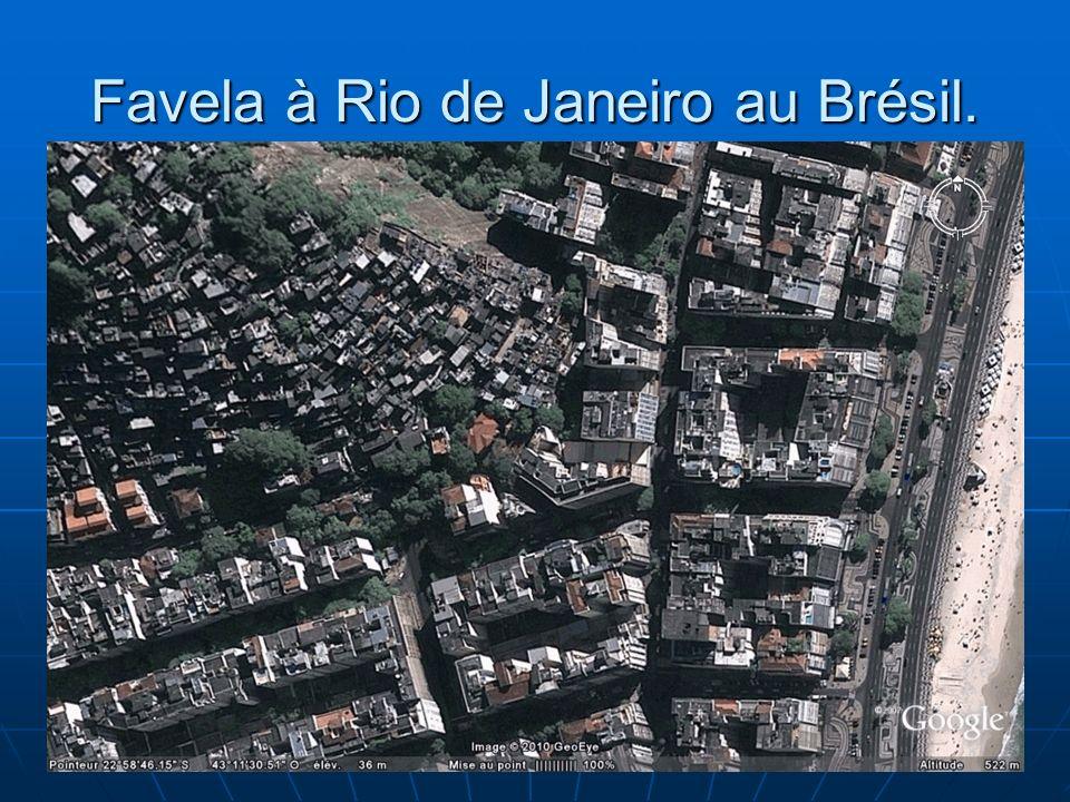 N. Barthélemy, 5° Géographie, 2010 Favela à Rio de Janeiro au Brésil.