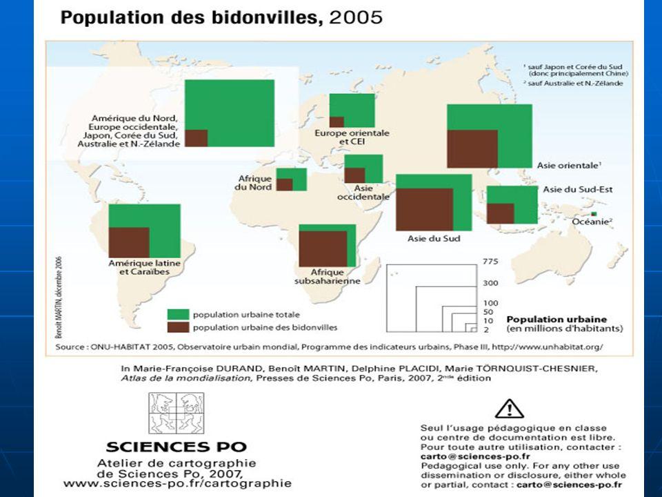 N. Barthélemy, 5° Géographie, 2010 Carte des bidonvilles