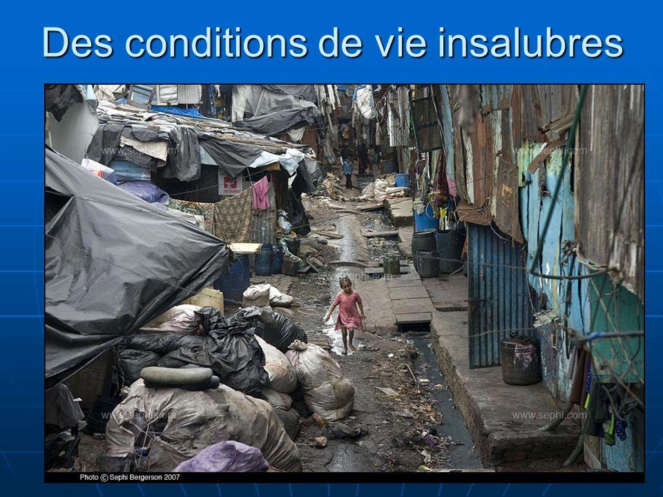 N. Barthélemy, 5° Géographie, 2010 Des conditions de vie insalubres